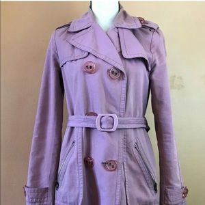 Marc Jacobs Pink Belted Trench Coat size small